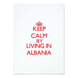 Keep Calm by living in Albania 13 Cm X 18 Cm Invitation Card