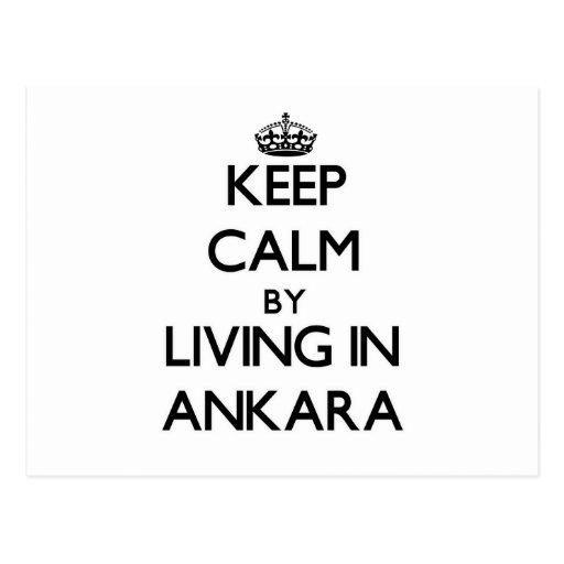 Keep Calm by Living in Ankara Postcard