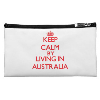 Keep Calm by living in Australia Cosmetic Bag