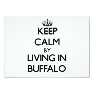 Keep Calm by Living in Buffalo Personalized Invitation