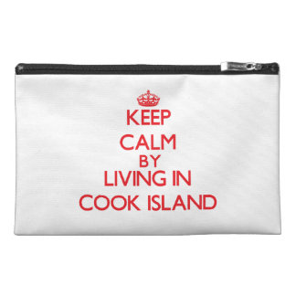 Keep Calm by living in Cook Island Travel Accessory Bag