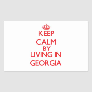 Keep Calm by living in Georgia Stickers