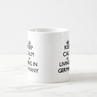 Keep Calm by Living in Germany Basic White Mug