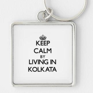 Keep Calm by Living in Kolkata Keychain