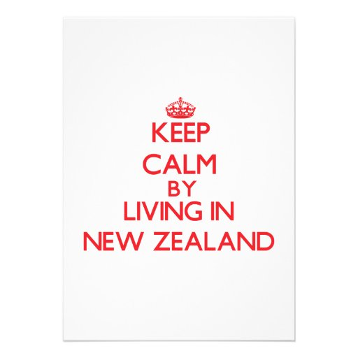 Keep Calm by living in New Zealand Personalized Announcements
