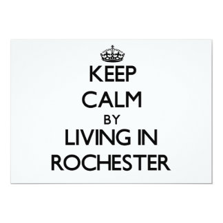 "Keep Calm by Living in Rochester 5"" X 7"" Invitation Card"