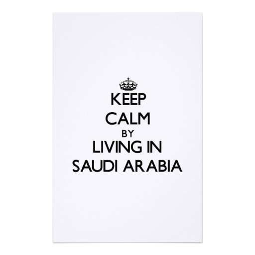 Keep Calm by Living in Saudi Arabia Personalized Stationery