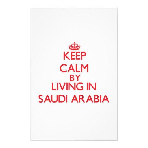 Keep Calm by living in Saudi Arabia Custom Stationery
