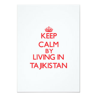Keep Calm by living in Tajikistan Personalized Announcement