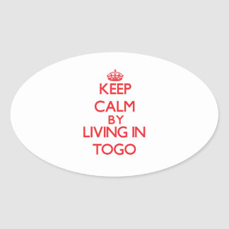 Keep Calm by living in Togo Sticker