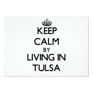 Keep Calm by Living in Tulsa 13 Cm X 18 Cm Invitation Card
