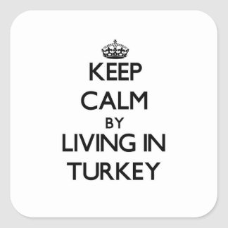 Keep Calm by Living in Turkey Square Sticker