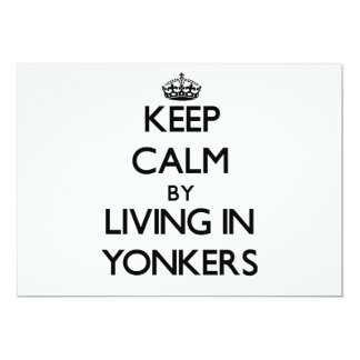 Keep Calm by Living in Yonkers 5x7 Paper Invitation Card