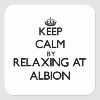 Keep calm by relaxing at Albion Illinois Stickers