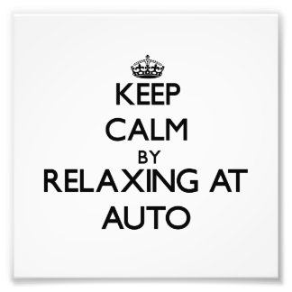 Keep calm by relaxing at Auto Samoa Photo Print