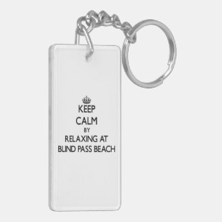 Keep calm by relaxing at Blind Pass Beach Florida Acrylic Keychain