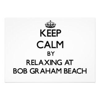 Keep calm by relaxing at Bob Graham Beach Florida Custom Announcements