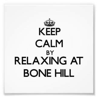 Keep calm by relaxing at Bone Hill Massachusetts Photographic Print