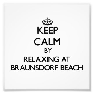 Keep calm by relaxing at Braunsdorf Beach Wisconsi Art Photo