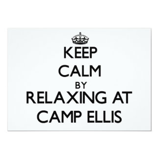 Keep calm by relaxing at Camp Ellis Maine Personalized Announcement