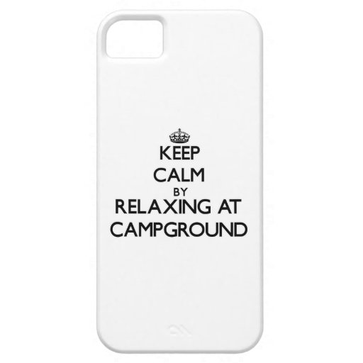 Keep calm by relaxing at Campground Massachusetts iPhone 5 Cases