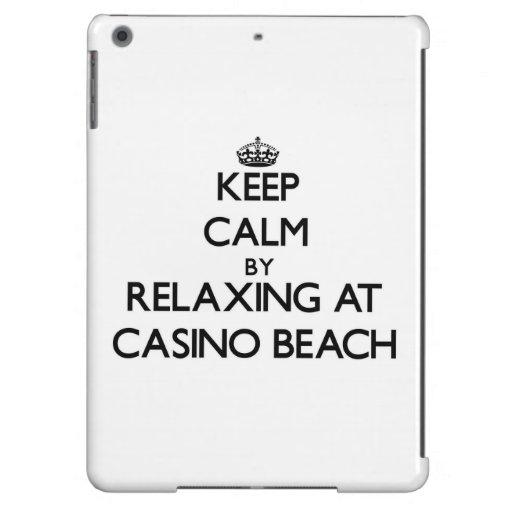 Keep calm by relaxing at Casino Beach Florida iPad Air Case