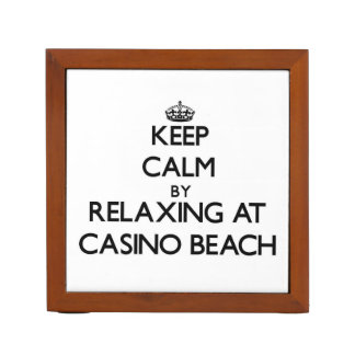 Keep calm by relaxing at Casino Beach Florida Desk Organizers