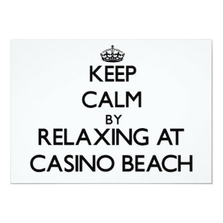 """Keep calm by relaxing at Casino Beach Florida 5"""" X 7"""" Invitation Card"""