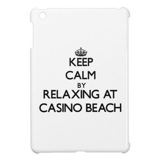 Keep calm by relaxing at Casino Beach Florida iPad Mini Covers