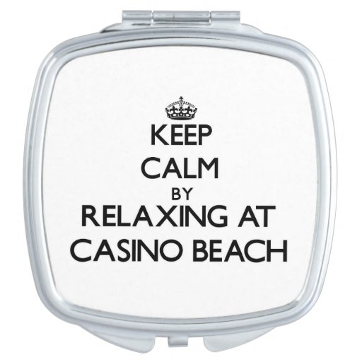 Keep calm by relaxing at Casino Beach Florida Vanity Mirror
