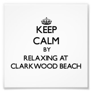 Keep calm by relaxing at Clarkwood Beach Ohio Art Photo