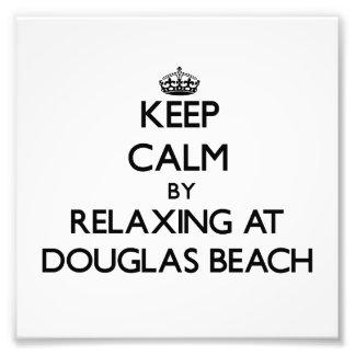 Keep calm by relaxing at Douglas Beach Michigan Photo