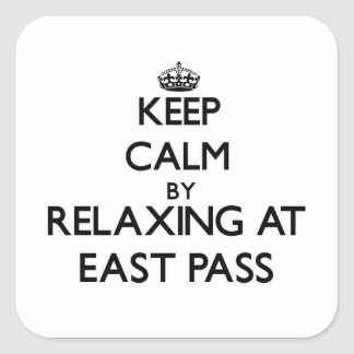 Keep calm by relaxing at East Pass Florida Sticker