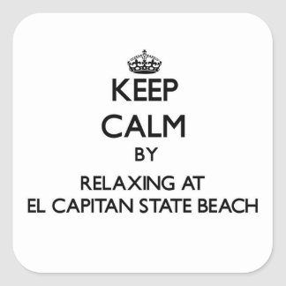 Keep calm by relaxing at El Capitan State Beach Ca Square Sticker
