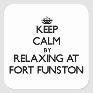 Keep calm by relaxing at Fort Funston California Square Sticker