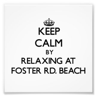Keep calm by relaxing at Foster Rd Beach Michigan Photograph