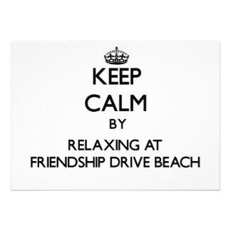 Keep calm by relaxing at Friendship Drive Beach Ne Custom Announcement