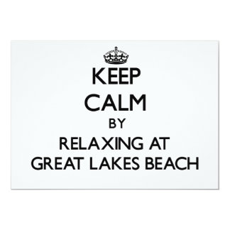 Keep calm by relaxing at Great Lakes Beach Michiga Cards