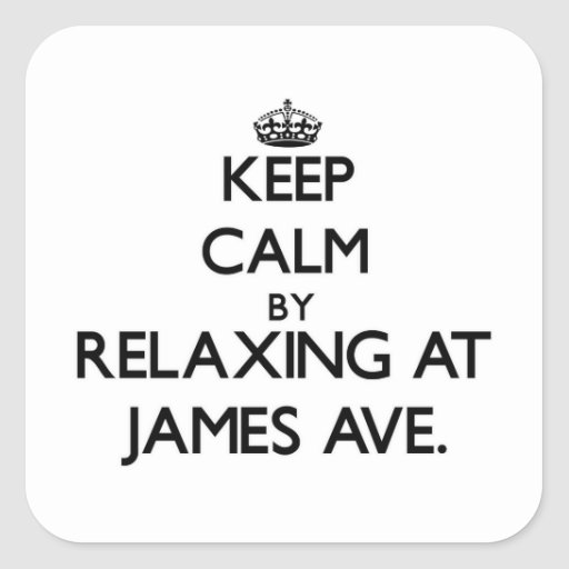 Keep calm by relaxing at James Ave. Massachusetts Square Sticker