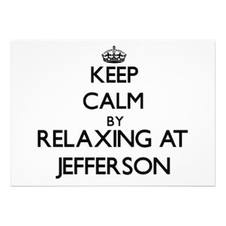 Keep calm by relaxing at Jefferson New Jersey Card