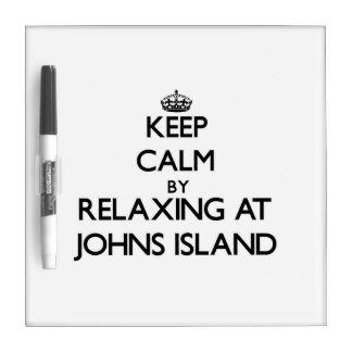 Keep calm by relaxing at Johns Island Washington Dry-Erase Whiteboard