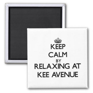 Keep calm by relaxing at Kee Avenue Alabama Magnet