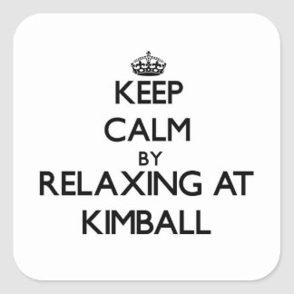 Keep calm by relaxing at Kimball Massachusetts Stickers