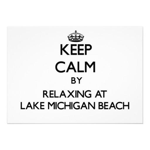 Keep calm by relaxing at Lake Michigan Beach Michi Invites