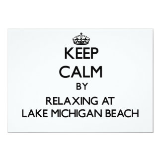 Keep calm by relaxing at Lake Michigan Beach Michi Invites