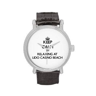 Keep calm by relaxing at Lido Casino Beach Florida Wrist Watch