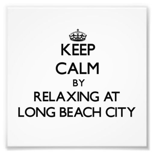 Keep calm by relaxing at Long Beach City New York Photo