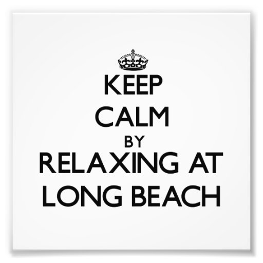Keep calm by relaxing at Long Beach Connecticut Photograph
