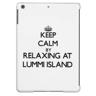 Keep calm by relaxing at Lummi Island Washington iPad Air Case