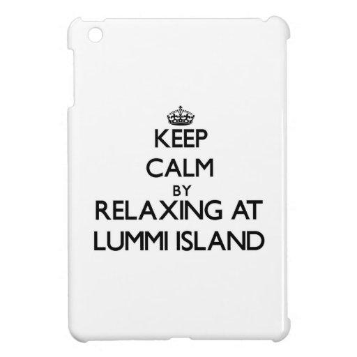 Keep calm by relaxing at Lummi Island Washington iPad Mini Covers